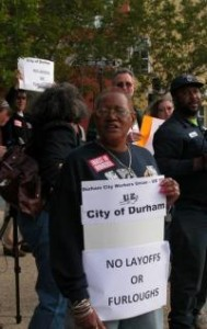 Durham City Workers and Allies at Rally Before Council Meeting